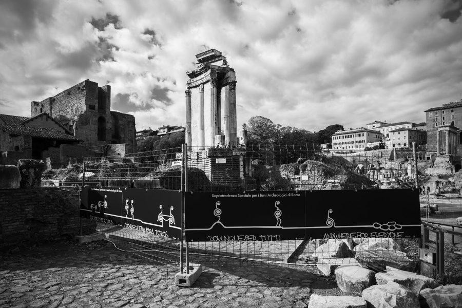 ROMAN FORUM VISITING PATHS